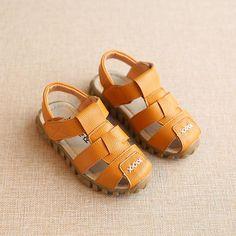 Boys Sandals Kids Shoes 2017 Soft Leather Sandals Baby Boys Summer Prewalker Soft Sole PU Leather Beach Sandals Size 21-30