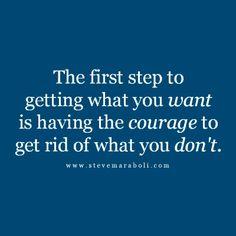 Cut away... simplify... let go...