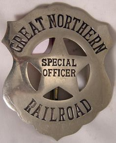 Police Station, Train Station, Train Tracks, Train Rides, Great Northern Railroad, Northern Line, Fire Badge, Law Enforcement Badges, Police Badges