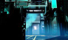 by limbolo/Neil Campbell Ross Tron Uprising, Sci Fi Environment, Abstract City, Environmental Design, Visual Development, Stage Design, Retro Futurism, Neon Lighting, Art Direction