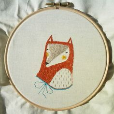 fox embroidery