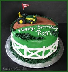 I made this tractor cake for a man who sells John Deere tractors! Vanilla cake with strawberry buttercream, covered in fondant. Strawberry Vanilla Cake, Strawberry Buttercream, Tractor Birthday, 21st Birthday, Birthday Cakes, Cupcake Cakes, Cupcakes, John Deere Tractors, Gum Paste