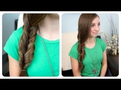 "Today's video features CGH#1 filming her very first tutorial!  She wanted to show all of you an easy hairstyle she does on herself in the mornings in ""2 minutes or less"".    This is called a Faux {Fake} Fishtail, and CGH#1 loves it because it looks like a fishtail braid... but you did not have to spend 20 minutes braiding it!     We have done triple..."