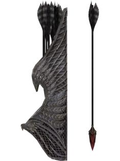 The Bloodcursed Elven Arrow is a unique variant of the Elven Arrows found in The Elder Scrolls V: Dawnguard. Its effect is the opposite of Sunhallowed Elven Arrows, for which Auriel's Bow is intended. Skyrim Arrows, Elder Scrolls Wiki, Snow Elf, Raven Queen, Archery Bows, Quiver, Fantasy Weapons, Pen And Paper, Visual Effects