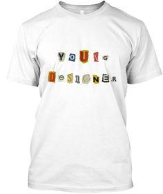 Young Designer newspaper pieces photo colors shirt