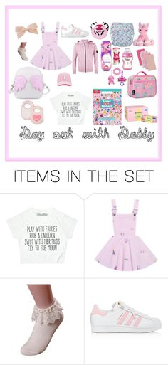 """Day out with Daddy"" by littlezombiekitten ❤ liked on Polyvore featuring art, ddlg, abdl, ddlb, mglb and mglg"