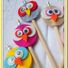 DIY pencil owl toppers
