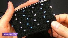 Как вязать с бисером. Вязание спицами с бусинами # 489