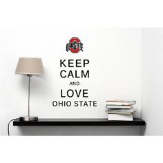 KEEP CALM AND LOVE OHIO STATE UNIVERSITY KCCO Decal Large Mural Vinyl Wall Art Inspirational Quotes and Saying Home Decor Decal Sticker