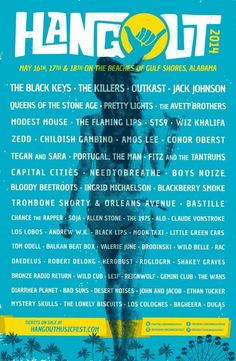 Hangout Festival 2014 ~ What an incredible line-up!