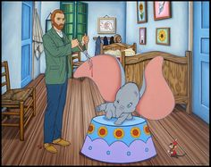 Vincent van Gogh & Dumbo Walt Disney Cartoons Updated for the 21st Century. To see more art and information about Jose Rodolfo Loaiza Ontiveros click the image.