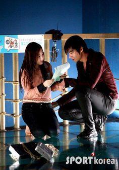 CITY HUNTER: Behind Scene  Lee Min Ho  y Park Min Young