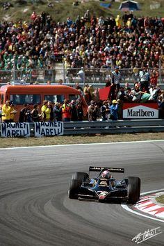 Mario Andretti, Lotus 78-Ford, #5, (finished 1st) Dutch GP, Zandvoort, 1978,
