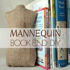 Create sewing inspired bookends with this free mannequin pattern and tutorial. Project is easy to make, perfect for beginners and can double as a door stop.