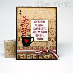 Simon Says Stamp - Choose Happy - Another coffee card!