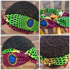 The 'Alexandra' Tribal African Ankara Purple/Green by naomianagu