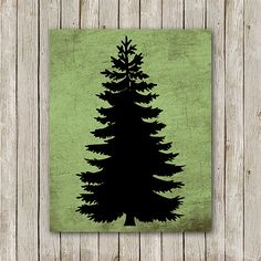 Pine Tree Printable Instant Download Cabin by MossAndTwigPrints, $5.00