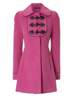 Pink Toggle Coat!