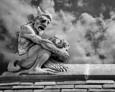 A Gothic-style gargoyle found on Yale University campus. Author Mathew M. Duman will be the special guest at the Stratford Library on October 19, to discuss these scary, yet playful, sculptures.