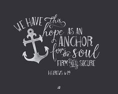 Don't ever give up, we have this HOPE as an ANCHOR for the SOUL. #LostBumblebee ©2015 MDBN : Hope is an Anchor Hebrews 6:19 : Free Donate to Download Printable : Personal Use Only.