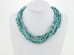 Beaded Turquoise Color Statement Necklace Chunky by eBijoux, $17.99