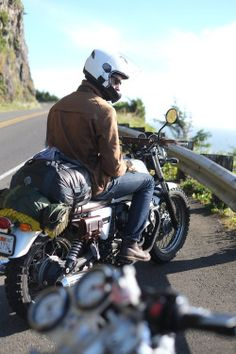 """north-ofhere: """" long way down """" Photographs Of People, Way Down, Bobber, The Man, Nostalgia, Around The Worlds, Motorcycle, Men, Motorcycles"""