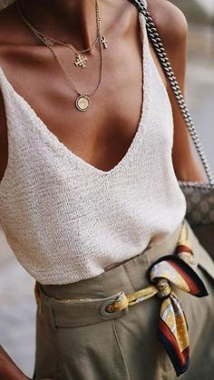 How to wear summer neutrals this season. - How to wear summer neutrals this season. If you're looking for the perfect look to see you throug - Casual Outfits, Cute Outfits, Fashion Outfits, Womens Fashion, Fashion Tips, Style Fashion, Work Outfits, Teen Outfits, French Fashion