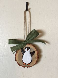 Add a little fun and rustic charm to your Christmas tree this holiday season with these wood slice ornaments. Each ornament is burned by hand so the design will be slightly different on each one. Also, since no two tree branches are alike, the size varies slightly as well. These