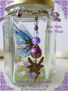 My second creation for fairy wings in a jar available from my facebook page x