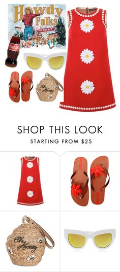 """#state fair"" by lizcangelosi ❤ liked on Polyvore featuring Dolce&Gabbana, IPANEMA, Kate Spade and Anna-Karin Karlsson"