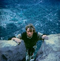 Layton Kor at the top of the Salathe Wall on El Capitan in 1967. Photograph by the late great Galen Rowell who climbed the route with Layton.