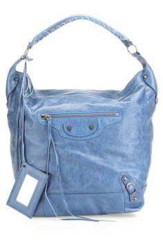 Balenciaga Day Hobo In Blue Indigo.