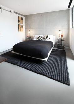 Makuuhuone betonipinnoilla