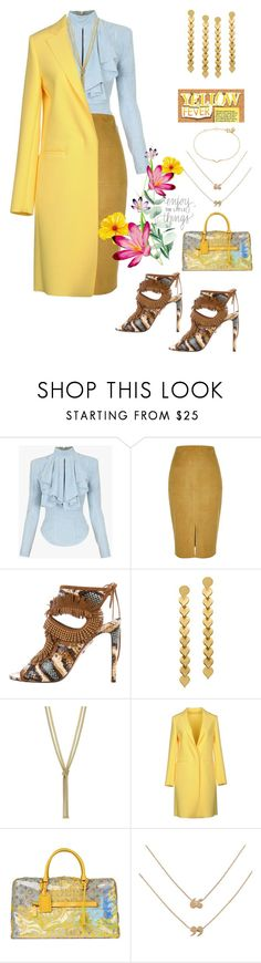 """""""Occupy"""" by felicitysparks ❤ liked on Polyvore featuring Balmain, River Island, Aquazzura, Pinko, Love Is and Maya Magal"""
