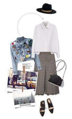 """Jean Jackets"" by pippi-loves-music ❤ liked on Polyvore featuring DKNY Jeans, Alice + Olivia, Y's by Yohji Yamamoto, Janessa Leone, Loeffler Randall and jeanjackets"