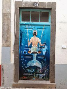 25 portas com intervenções artísticas,Zona Velha, Funchal, Ilha da Madeira, Portugal
