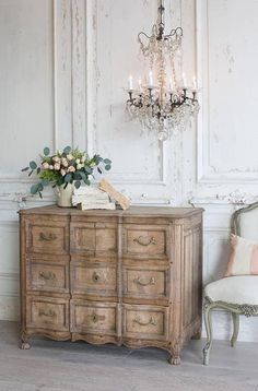 Farmhouse Furniture, Rustic Furniture, Living Room Furniture, Home Furniture, Antique Furniture, Antique Dressers, Furniture Ideas, Furniture Storage, White Antique Dresser