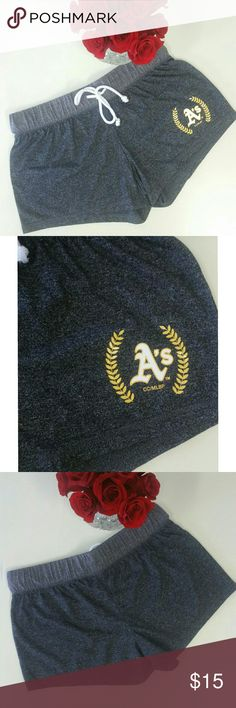 NWOT Oakland Athletics Shorts Oakland A's gray sleepwear shorts Very soft and cute! Never worn, new without tags Size medium   Tags: baseball mlb major league Oakland athletics bay raiders warriors giants Shorts