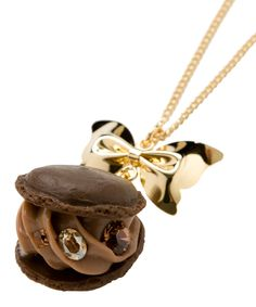 Creamy Chocolate Macaron Necklace