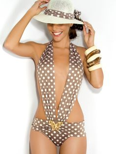 Rebecca Swimwear 2013 Pretty Woman Deep Plunge Monokini Designer Swimsuit http://www.elitefashionswimwear.com/desert-rose-deep-plunge.html