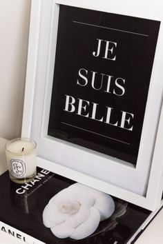 """Je Suis Belle French - translation """"I am beautiful"""" Yes! Printable Poster, Printable Quotes, French Phrases, French Quotes, Typography Prints, Quote Prints, Art Quotes, Inspirational Quotes, Quote Art"""