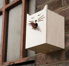 This birdhouse made us smile.