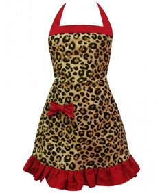 After months of being sold out, Nadia G's Signature retro Leopard Apron is back! Get it now, before they run out!