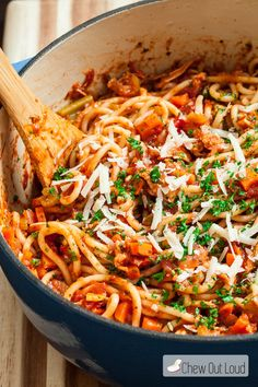 Here's a fantastic way to use up leftover turkey, especially after the holidays. This Turkey Bolognese easily transforms your leftovers into a delightful new dish everyone will gobble up.