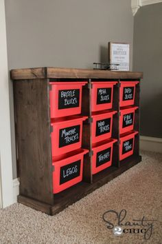 DIY Project Plan: How to Build a Toy Storage Unit via @ShanTil Yell-2-Chic.com
