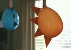 cute  balloon decorations for dinosaur party...Matthias 1st b-day