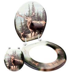 Elk In Forest Toilet Seat