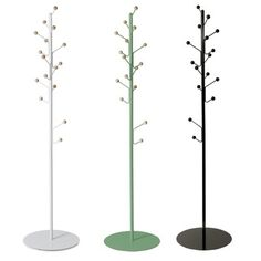 The Bill Coat Stand offers plenty of hanging storage with its 16 buds. The Bill family also includes a wall mounted coat hook and shoe shelf. Standing Coat Rack, Loft Room, Coat Stands, Sweet Home, Childrens Rooms, Contemporary, Interior, Childhood, Inspiration