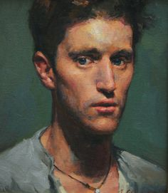 Jacob Collins, Peter, Oil on Canvas, 14 x 12 inches, 1990