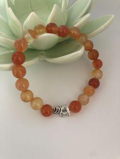 Chakra, Etsy Shop, Wreaths, Orange, Carnelian, Gemstones, Handmade, Bracelet, Chakras
